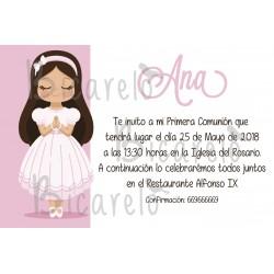 Invitación Comunión niña